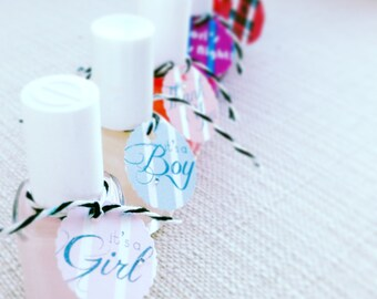 Nail Polish Tags, Perfect for Shower Favors Set of 10