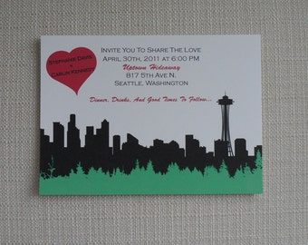Seattle Save the Date | Seattle Wedding Invitation