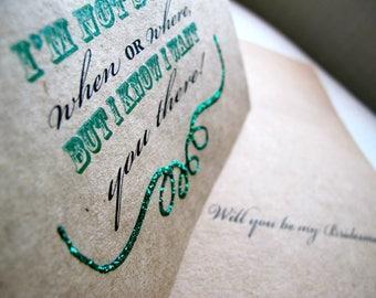 Bridesmaid Proposal Card - Will you be my Bridesmaid- Custom Bridal Party Card