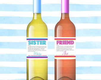 Wine Labels & Straws