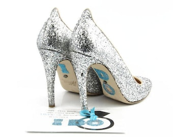 I DO Shoe Stickers with Large Diamond Ring