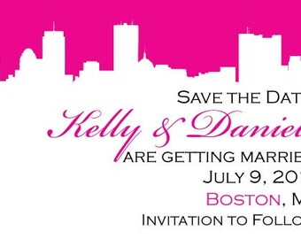 Boston Silhouette Save the Date or Invitation