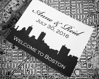 Wedding Gift Bag Stickers with your city set of 75
