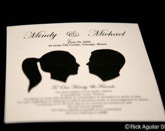 Wedding Programs with Your Silhouette