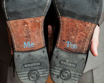 GROOM'S shoe stickers