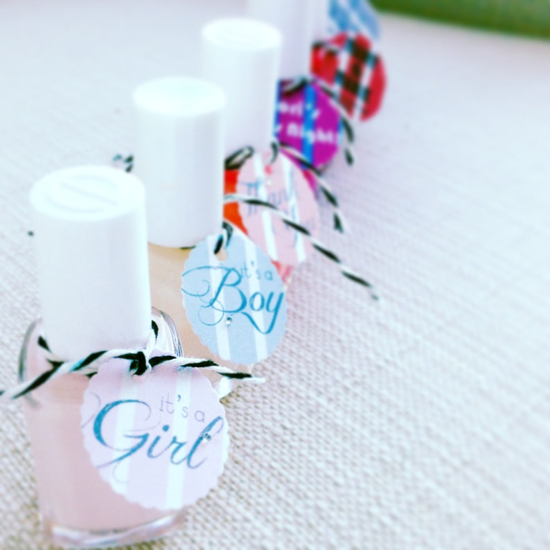 Nail Polish Tags Perfect for Shower Favors Set of 10