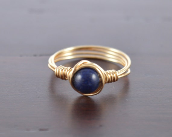 Sapphire Wire Ring