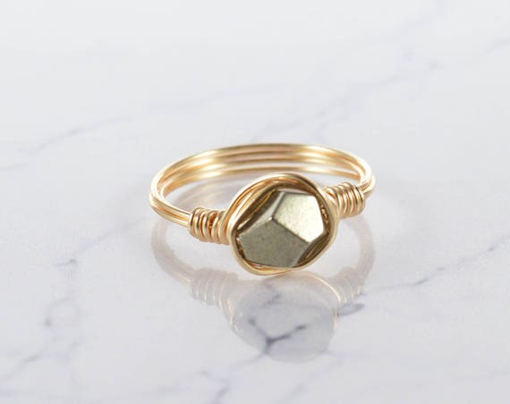 Pyrite Facet Ring