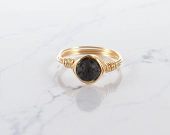 Black Lava Ring