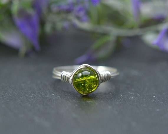 Peridot Wire Ring