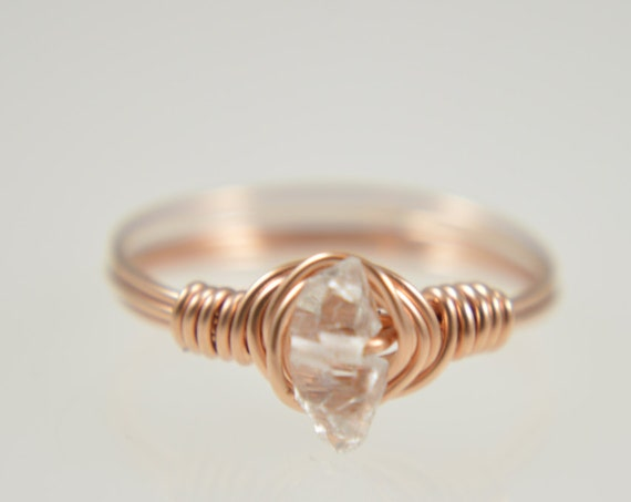 Herkimer Diamond Wire Ring