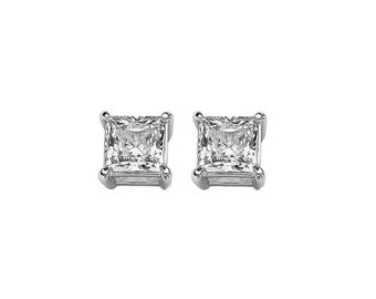 Available 3 Colors .925 Solid Sterling Silver Square Casting Studs Earring 3mm-6mm