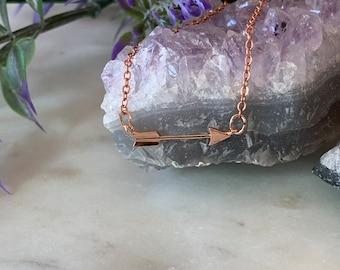 Tiny Arrow Necklace, Dainty Arrow Necklace, Mini Arrow Necklace, Gold Arrow Necklace, Layering Necklace, Bridesmaid Gift