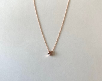 5mm Tiny Star Necklace in Rose Gold Plated Sterling Silver Gold Plated Sterling Silver or Sterling Silver
