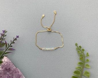 Opal Breacelet , Ethiopian Opal, October Birthstone Bracelet