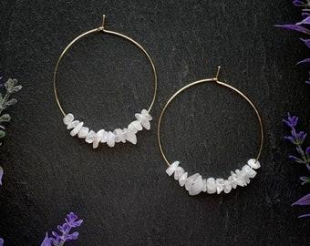 Rainbow Moonstone, Moonstone Earrings, Moonstone, Blue Flash Moonstone, Gemstone Earrings, Everyday Earrings, Statement Earrings