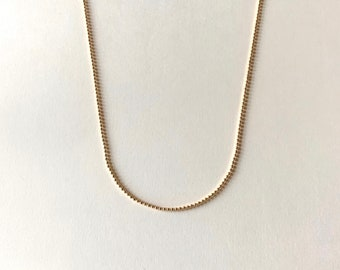 Ball Chain Necklace, Dainty Bead Chain Necklace