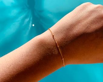 Satellite Chain Bracelet, Simple Chain Bracelet, Gold, Silver, or Rose Gold Bracelet