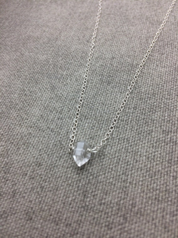 Single Herkimer Diamond Necklace