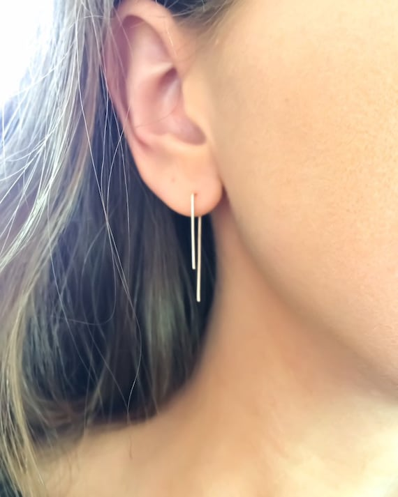 Single Piercing Staple Earrings