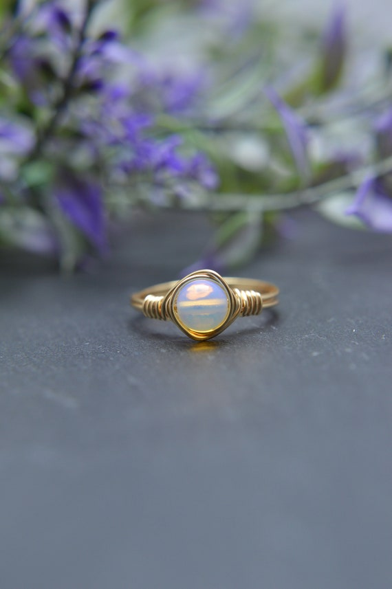 Opalite Wire Ring
