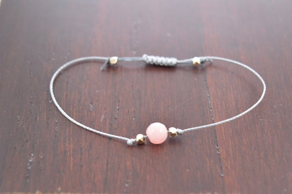 Pink Morganite Bracelet, stacking bracelet, wish bracelet, best friend gift, minimalist jewelry, best friend bracelet, beaded bracelet
