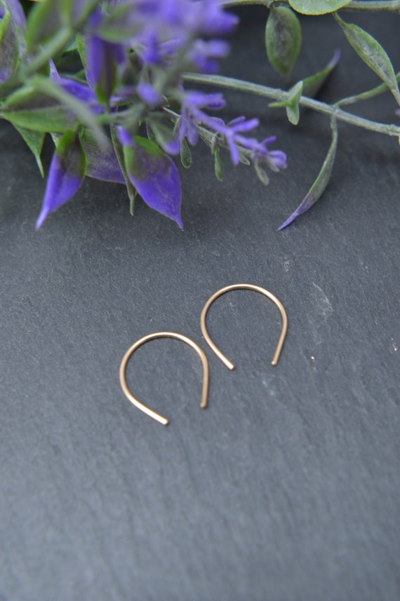 Open Hoop Earrings, Horseshoe Hoop Earrings, Arc Hoop Earrings, Wishbone Earrings, U-shaped earrings, Upside Down Teardrop Hoops, U Earrings