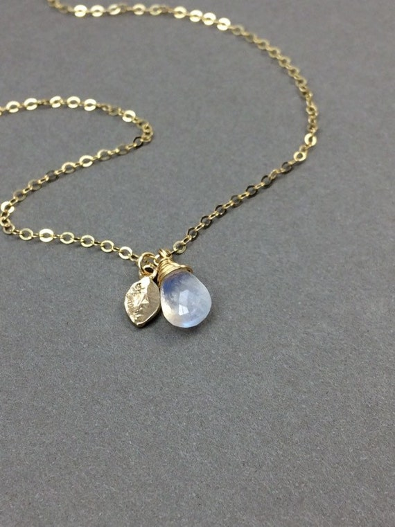 Personalized Rainbow Moonstone, Blue Moonstone, Moonstone Charm, Moonstone Necklace, Moonstone Pendant, Natural Moonstone Jewelry, Moonstone