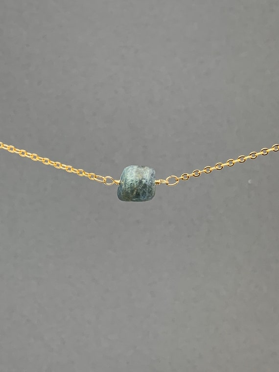 Polished Raw Aquamarine Necklace, November Birthstone, Natural Stone Gift, Crystal Necklace, Natural Stone Pendant, Bridesmaids Gift