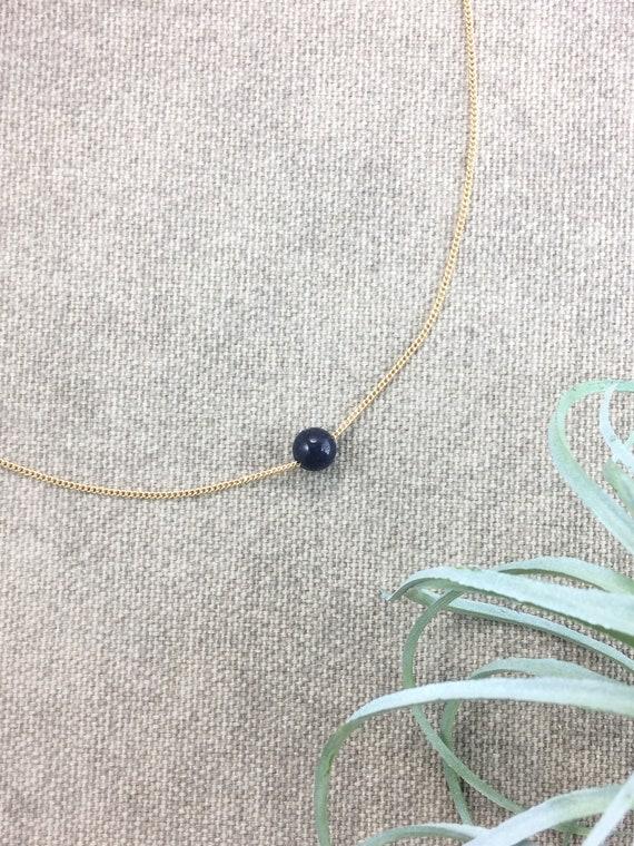 Sapphire Necklace, September Gift, Birthstone Necklace, Birthday Gift, Round Birthstone Necklace, Family Birthstone, Custom Birthstone