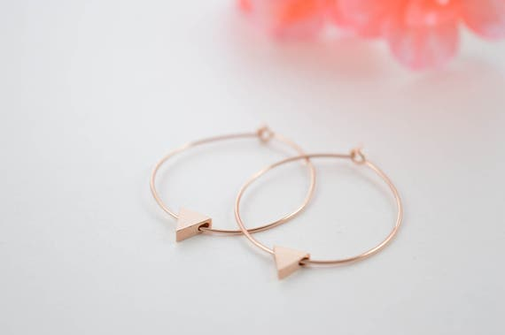 Tiny Triangle Hoop Earrings