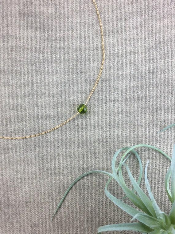 Peridot Necklace, Peridot Birthday Gift, Birthstone Necklace, Birthday Gift, Round Birthstone Necklace, Family Birthstone, Custom Birthstone