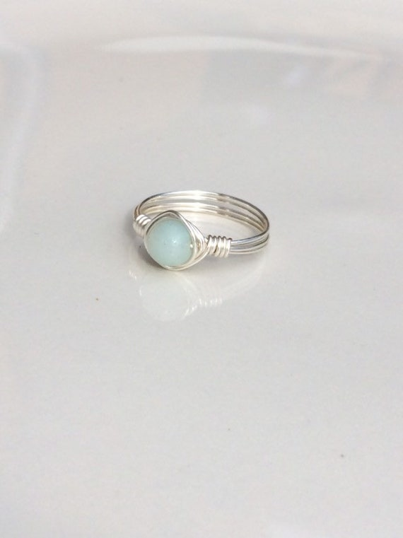 Amazonite Wire Ring