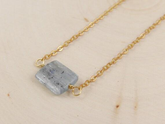 Minimal Kyanite Necklace
