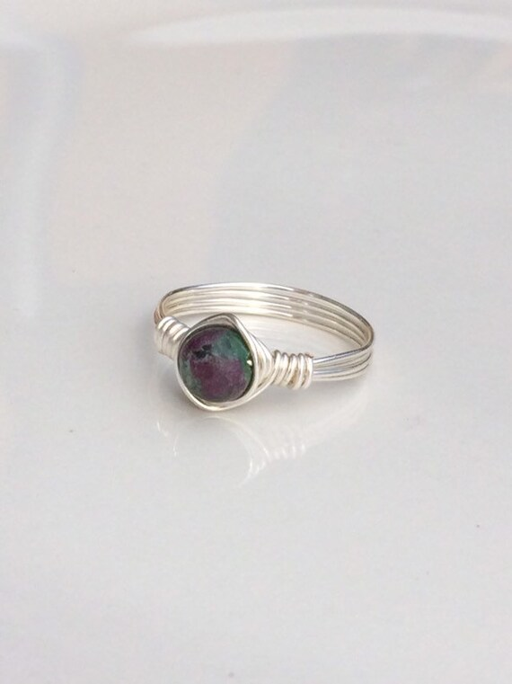 Ruby Zoisite Wire Ring