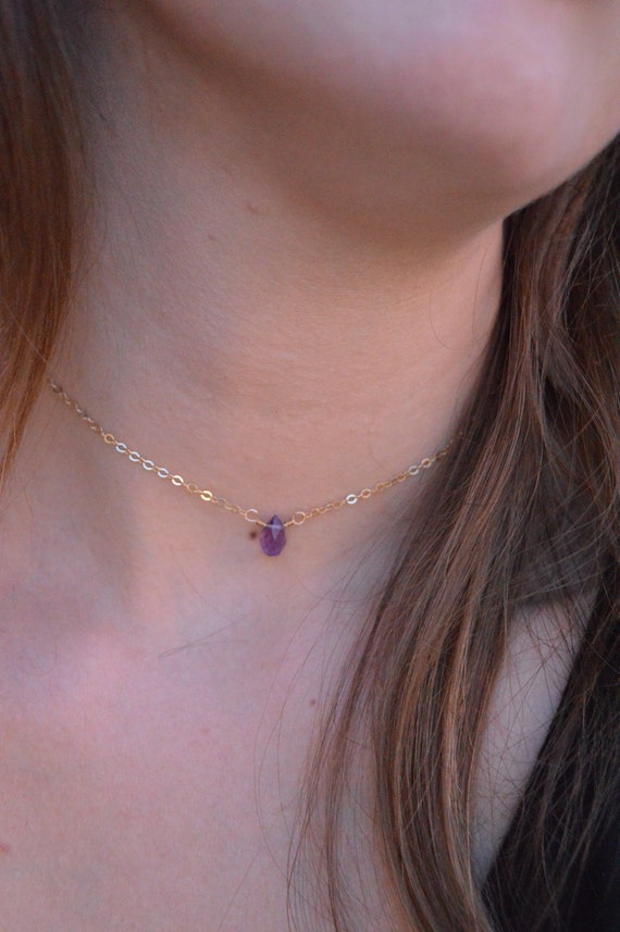TIny Amethyst Necklace