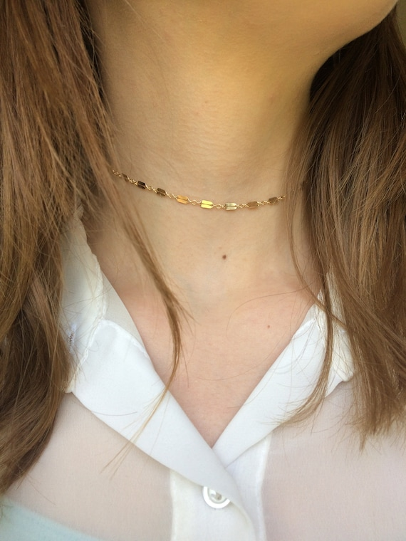 Dapped Razor Chain Choker Necklace