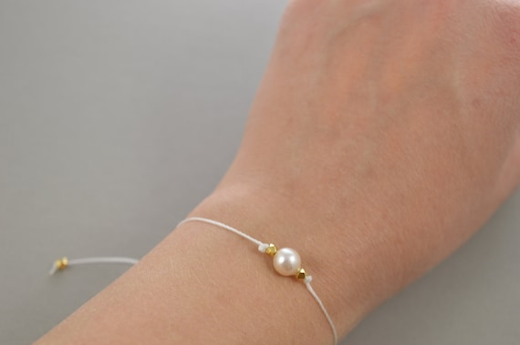 Pearl Bracelet, real akoya pearl bracelet, June Birthstone, best friend gift, minimalist jewelry, best friend bracelet, beaded bracelet