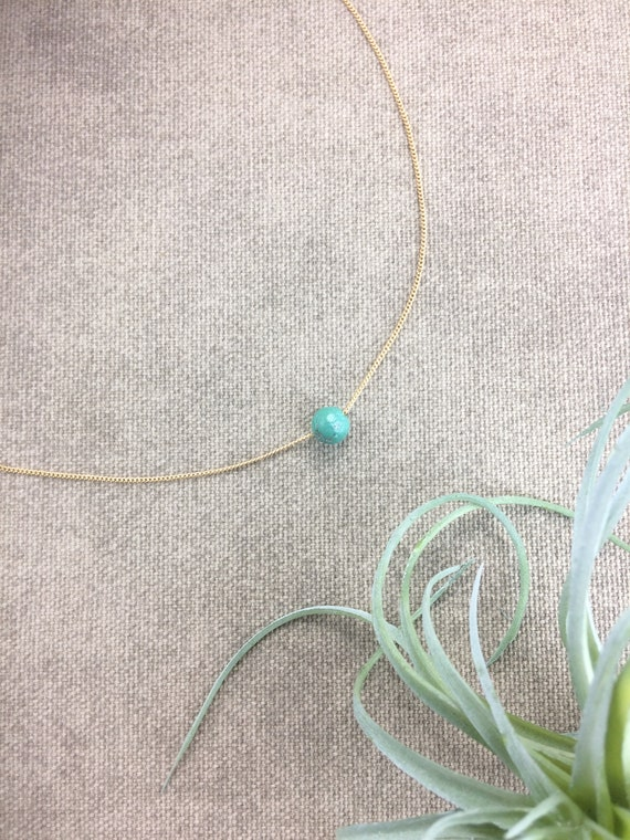Turquoise Necklace, December Birthday Gift, Birthstone Necklace, Birthday Gift, Round Birthstone Necklace, Family Birthstone, Birthstone