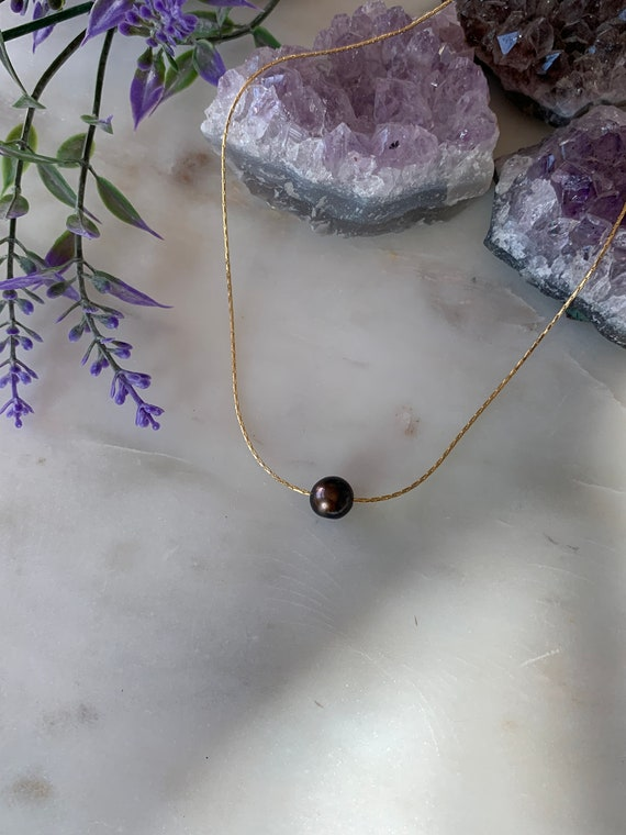 Garnet Floating Gemstone Necklace, January  Birthstone Necklace, Choose your Stone, Minimal Gemstone Necklace, Floating Necklace