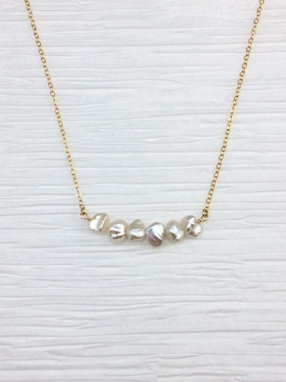 Biwa Pearl Choker Necklace