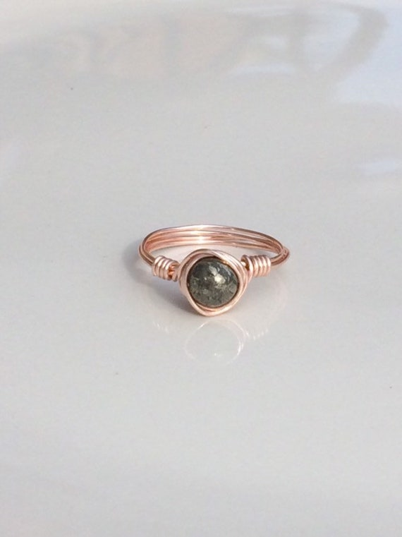 Pyrite Wire Ring