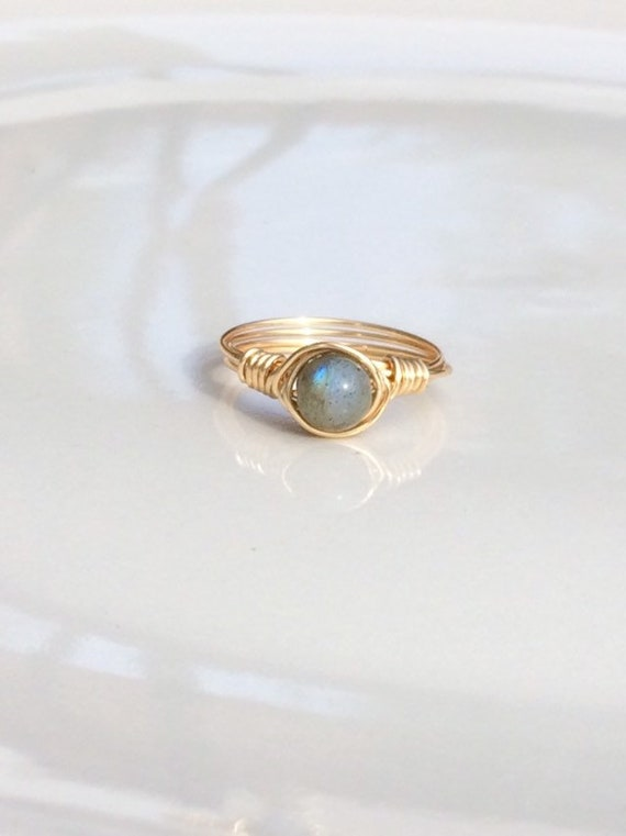 Labradorite Wire Ring