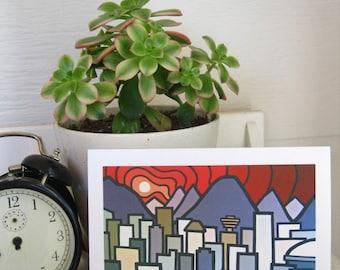 Landscape Fine Art Card-Vancouver-British Columbia-False Creek_Leanne Spanza-Cityscape-Mountain View