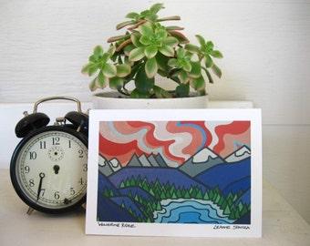 Landscape Fine Art Greeting Card-Wolverine Ridge-West Coast British Columbia-BC Interior-Birthday Card-Christmas Card