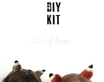 DIY KIT Fox ears: pattern and material