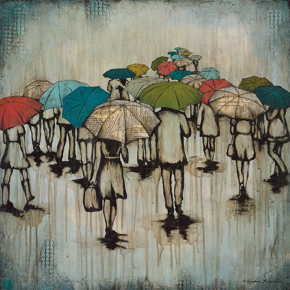 ad49113e7 Rain Print Rain Art Print titled Finding Hope Umbrella image ...