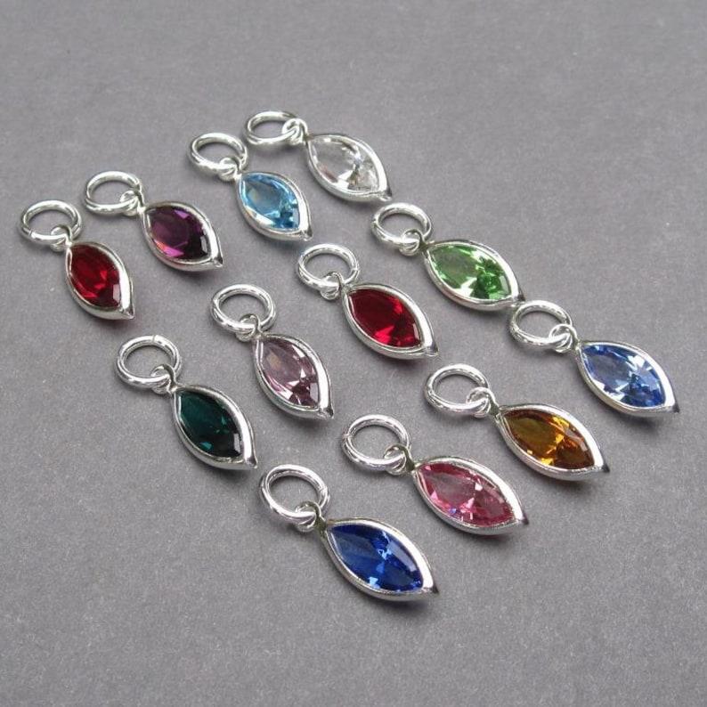 a52633178ac2 Swarovski Birthstone Bracelet Charms Personalized Jewelry