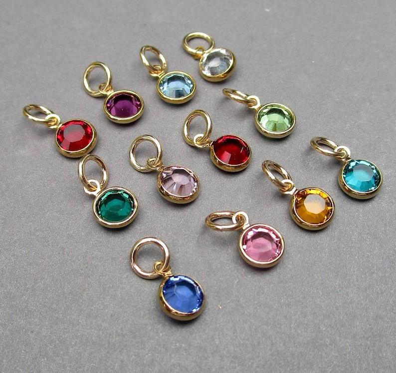 f884f0f8b0fe Swarovski Gold Birthstone Charms 6mm Swarovski Crystal
