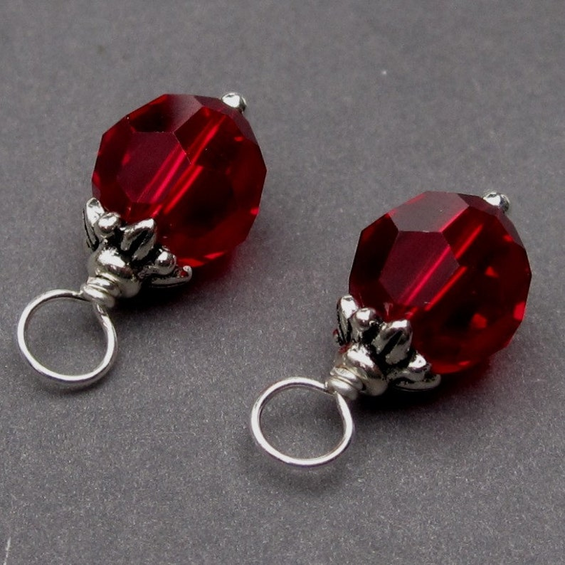 41c5e0bb3 Swarovski Siam Red Ruby Crystal Charms Ruby July Birthstone | Etsy
